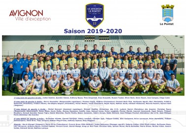 Photo officielle séniors 2019/2020